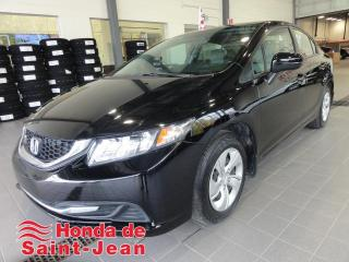 Used 2015 Honda Civic LX 4 portes, Automatique Camera A/C Blue for sale in St-Jean-Sur-Richelieu, QC
