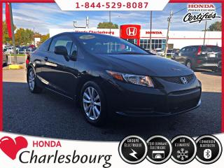 Used 2012 Honda Civic EX COUPE *MANUEL*TOIT OUVRANT* for sale in Charlesbourg, QC