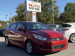 Used 2016 Hyundai Accent GL HATCHBACK SIEGES CHAUFFANTS BLUETHOOT for sale in Repentigny, QC