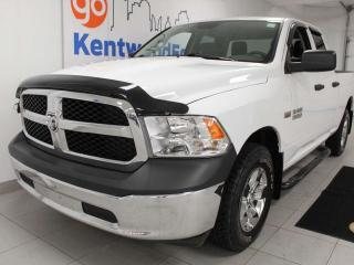 Used 2017 RAM 1500 ST 5.7L HEMI 4x4 6-seater in whimsical white for sale in Edmonton, AB