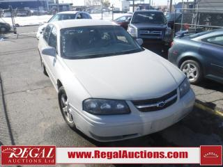 Used 2004 Chevrolet Impala LS 4D Sedan for sale in Calgary, AB