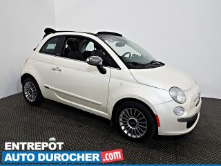 Used 2012 Fiat 500 Lounge DÉCAPOTABLE - Automatique - A/C - Cuir for sale in Laval, QC