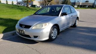 Used 2005 Honda Civic 2dr Manual DX | 5 Spd | 1 Owner | Accident-Free for sale in Vaughan, ON
