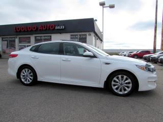 Used 2016 Kia Optima EX LEATHER NAVI AUTO CERTIFIED Leather Navigation Camera Blind Spot Certified for sale in Milton, ON