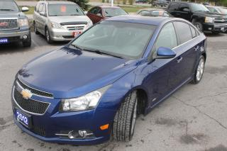 Used 2012 Chevrolet Cruze LTZ Turbo w/1SA for sale in Carleton Place, ON