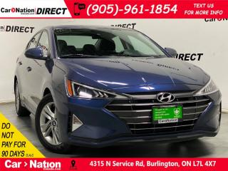 Used 2019 Hyundai Elantra Preferred w/Sun & Safety Pkg| SUNROOF| PUSH START| for sale in Burlington, ON