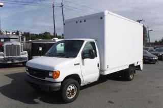 Used 2006 Ford Econoline E-450 14 Foot Cube Van Dually with Rear Shelving for sale in Burnaby, BC
