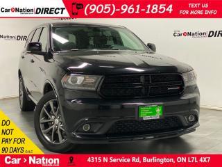 Used 2018 Dodge Durango GT Blacktop  AWD  NAVI  DUAL DVD  SUNROOF  for sale in Burlington, ON