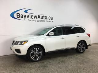 Used 2017 Nissan Pathfinder Platinum - HTD/COOLED LEATHER! NAV! DVD X2! SUNROOF! AWD! for sale in Belleville, ON