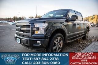 Used 2015 Ford F-150 Lariat 4x4, Tow Package, FX4 Off Road Package, Sport Package, 3.5L Ecoboost, Navigation, Tailgate Step for sale in Okotoks, AB