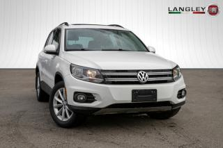 Used 2017 Volkswagen Tiguan Wolfsburg Edition PANORAMIC SUNROOF, LEATHERETTE, AWD for sale in Surrey, BC