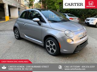 Used 2016 Fiat 500 E ELECTRIC + SUNROOF! for sale in Vancouver, BC