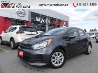 Used 2016 Kia Rio LX+ ECO  - SiriusXM - $69 B/W for sale in Orleans, ON