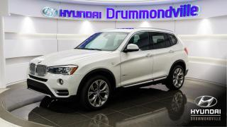 Used 2017 BMW X3 28i + GARANTIE INCLUSE + NAVI + TOIT PAN for sale in Drummondville, QC