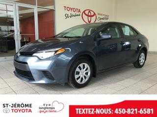 Used 2016 Toyota Corolla * CE * PEA 2021 OU 100 000KMS * BLUETOOTH * for sale in Mirabel, QC