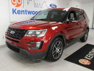 Used 2016 Ford Explorer Sport 4WD ecoboost, NAV, sunroof, heated/cooled power leather seats, heated steering wheel, power liftgate, power third row seats for sale in Edmonton, AB