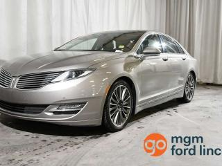 Used 2015 Lincoln MKZ HYBRID FWD | HEATED STEERING WHEEL | HEATED FRONT SEATS | NAVIGATION | TECHNOLOGY PACKAGE | BLIND SPOT DETECTION | REMOTE START for sale in Red Deer, AB