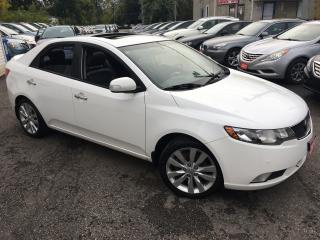 Used 2010 Kia Forte SX/ 6 SPEED/ LEATHER/ SUNROOF/ ALLOYS/ LOADED! for sale in Scarborough, ON