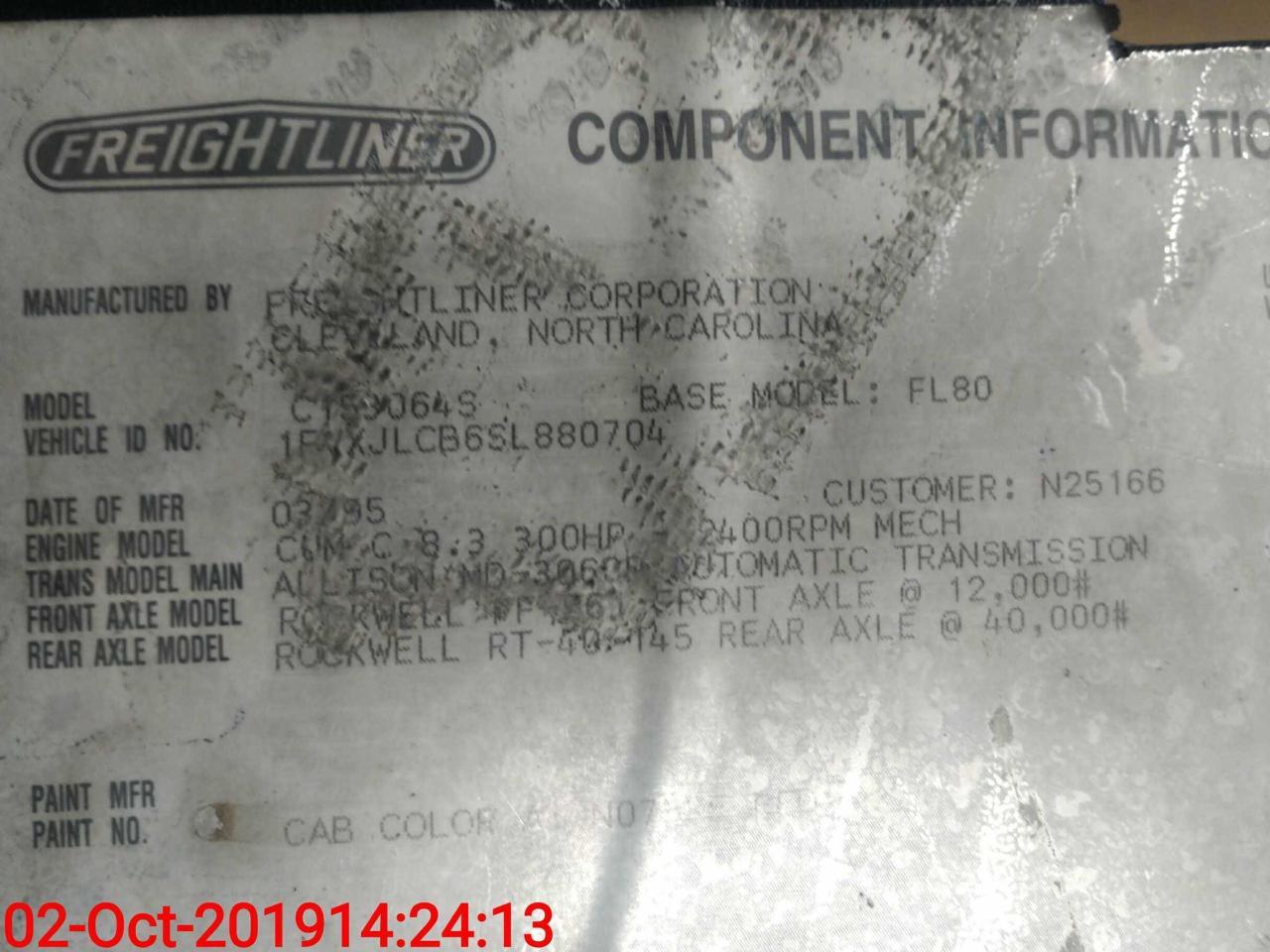 1995 Freightliner FL80