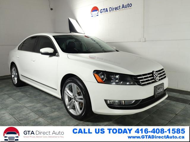 2013 Volkswagen Passat Highline TDI Nav Camera Sunroof Leather Certified