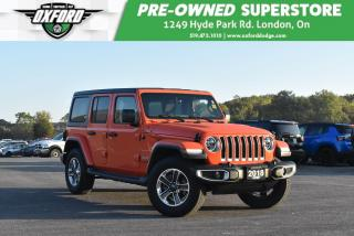Used 2018 Jeep Wrangler Unlimited Sahara - Dual Tops, Low Kms, Well Mainta for sale in London, ON
