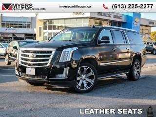 Used 2016 Cadillac Escalade ESV Premium  PREMIUM ESV, BLACK ON BROWN, SUNROOF, NAV, MAG RIDE, DVD PACKAGE, 22'S for sale in Ottawa, ON
