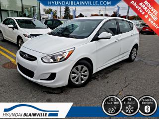 Used 2016 Hyundai Accent Gl Bluetooth, Bancs for sale in Blainville, QC