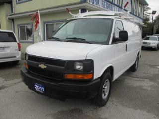 Used 2011 Chevrolet Express 1-TON CARGO MOVING 2 PASSENGER 4.8L - V8.. TOW SUPPORT.. AIR CONDITIONING.. ROOF RACKS.. MIDDLE DIVIDER.. KEYLESS ENTRY.. for sale in Bradford, ON