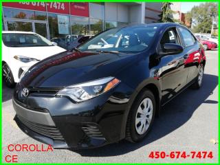 Used 2014 Toyota Corolla ** AUTOMATIQUE AIR CLIMATISÉ BAS KILOMÉTRAGE ** for sale in Longueuil, QC