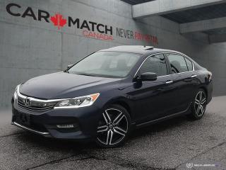 Used 2016 Honda Accord SPORT / LEATHER-CLOTH / SUNROOF / for sale in Cambridge, ON