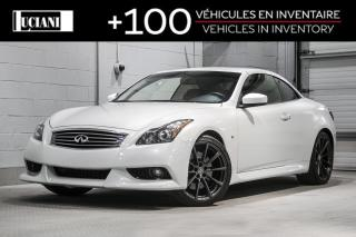 Used 2015 Infiniti Q60 2dr Auto Premier Red Interior for sale in Montréal, QC