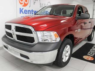 Used 2014 RAM 1500 ST 5.7L Hemi 4x4 6-seater in a beautiful red for sale in Edmonton, AB