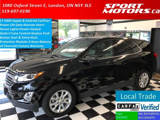 2018 Chevrolet Equinox LT AWD+Apply Play+Remote Start+PWR Gate+RustModule