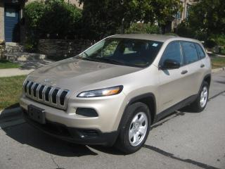 Used 2015 Jeep Cherokee 4X4, SPORT, CERTIFIED, NO ACCIDENTS, CAMERA for sale in Toronto, ON