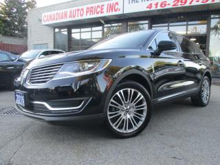 Used 2016 Lincoln MKX AWD-RESERVE-NAVI-LTHER-360 CAM-PANO-ROOF-PARK-ASSI for sale in Scarborough, ON