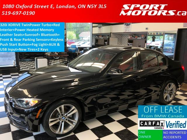 2016 BMW 3 Series 320i xDrive Sport+RED Leather+Sensors+New Tires