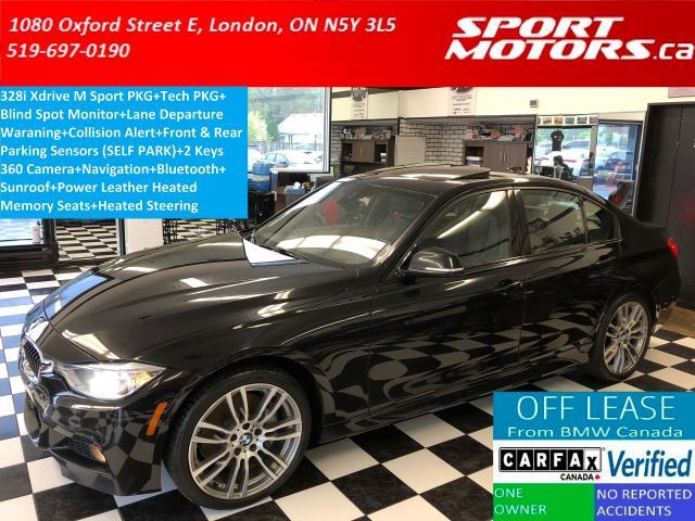 2015 BMW 3 Series 328i xDrive M Sport Line+Tech PKG+Camera+GPS