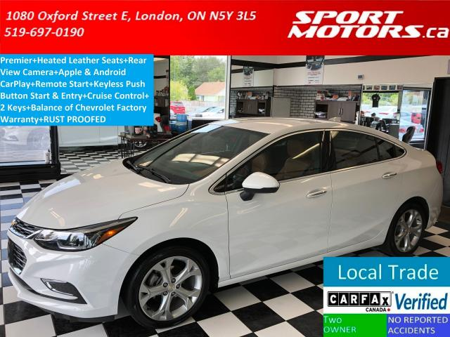 2017 Chevrolet Cruze Premier+Leather+Apple Play+Camera+Rust Proofed+A/C
