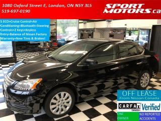 Used 2015 Nissan Sentra S ECO+Bluetooth+Keyless Entry+A/C+New Tires+Brakes for sale in London, ON