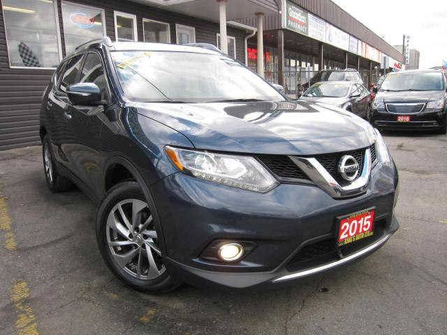 2015 Nissan Rogue SL NO ACCIDIENTS!!  4WD/AWD, PANORAMIC ROOF, LEATHER INTERIOR, HEATED SEATS, NAVIGATION, BACK UP CAMERA