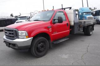 Used 2004 Ford F-550 Dump Regular Cab 2WD Dually Diesel 12 Foot Flatdeck for sale in Burnaby, BC