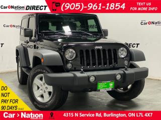 Used 2017 Jeep Wrangler Sport| 4X4| HARD TOP| LOCAL TRADE| for sale in Burlington, ON