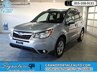 Used 2016 Subaru Forester 2.5i Touring CVT Toit *Jamais Accidenté* for sale in Rivière-Du-Loup, QC