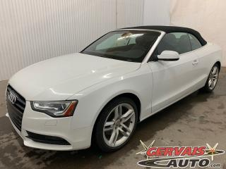 Used 2013 Audi A5 Convertible Premium Quattro AWD Cuir MAGS for sale in Trois-Rivières, QC