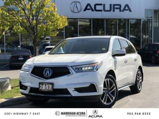 Used 2017 Acura MDX Tech SH-AWD, Navi, Rear DVD for sale in Markham, ON