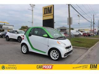 Used 2016 Smart fortwo PASSION *ELECTRIQUE* TOIT PANO SIÈGES CHAUFFANTS for sale in Salaberry-de-Valleyfield, QC