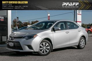 Used 2015 Toyota Corolla 4-door Sedan LE CVTi-S for sale in Orangeville, ON
