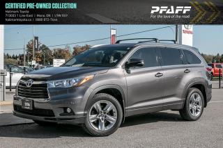 Used 2016 Toyota Highlander LTD AWD for sale in Orangeville, ON