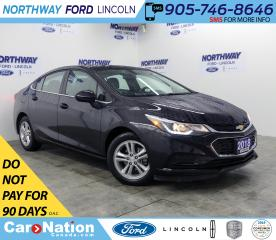 Used 2018 Chevrolet Cruze LT | HTD SEATS | BACKUP CAM | BLUETOOTH | USB+AUX for sale in Brantford, ON