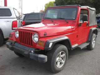 Used 2002 Jeep TJ Sport 4.0L 6cyl Auto 4WD Soft top Low mileage for sale in Ottawa, ON